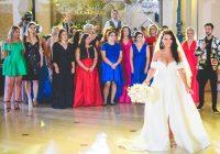 Francisca a purtat la nunta o rochie deosebita semnata Strada Boutique