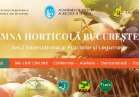 Toamna Horticolă Bucureșteană – Ziua Recoltei Veniți să gustați peste 150 de soiuri și hibrizi de fructe, struguri și legume obținute în România